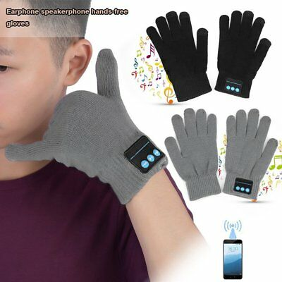 Breathable Thick Type Men Women Winter Keep Warm Wireless Bluetooth Gloves HA