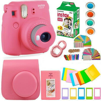 FujiFilm Instax Mini 9 Instant Camera + 20 Fuji Film + Large Bundle