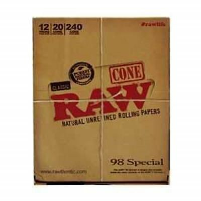 Raw 98 Special Cones 12Pack 20 Per Pack 240Ct