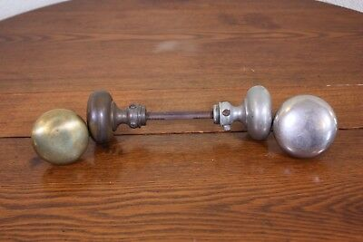 MIxed Lot of 4 Vtg Antique Smooth Metal Door Knobs Not Matched Project Hardware
