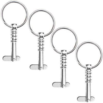 """4 Pack Quick Release Pin 1 4"""" Diameter W Drop Cam Spring Full 316 Stainless"""
