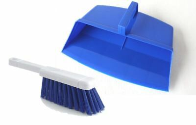 Blue Dustpan And Brush Set Hooded Plastic Dust Pan Strong Floor Cleaning Set