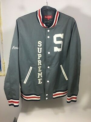 9a37e651 Vintage Supreme Ny Varsity Jacket 2004 New York Size L Large Sold Out
