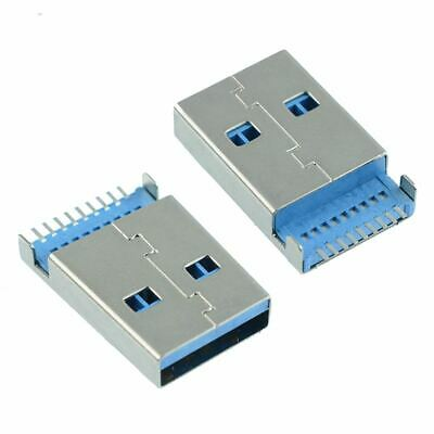 2 x USB 3.0 Type A Male Plug SMT PCB Connector