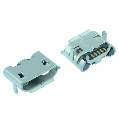 2 x Micro USB Type B Horizontal Female Connector Socket SMD