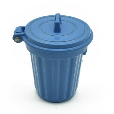 1:12 Scale Dollhouse Mini Trash Can Garbage Bin Furniture Kid Toy Decor Blue