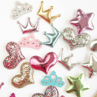Embellishments - Padded Hearts and Stars, Metallic and Glitter