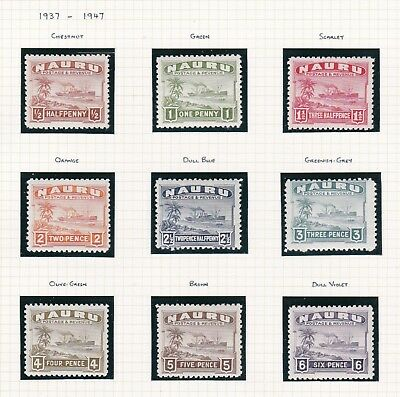 Commonwealth. Nauru. 1937-1948 issues. THREE PAGES. Mint.