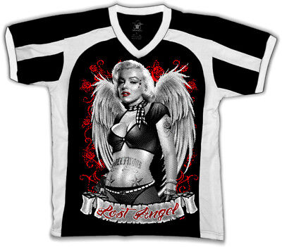 Marilyn Lost Angel Tatted Wings Tattooed Babe Sexy Retro Sport T-shirt