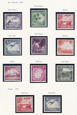Commonwealth. Nauru. 1954-65 set with extra shades.  Mint and MNH.