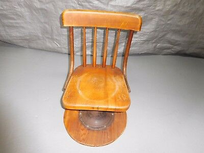 Vintage Wood/Cast Iron Kenny Bros.&Wolkins Boston,Ma. Childs School Chair w/Base