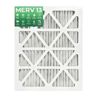 """16x20x2 MERV 13 Pleated 2"""" Inch Air Filters.  3 PACK"""