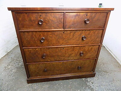 large,square,antique,flame,mahogany,victorian,chest of drawers,2 over 3,drawers,