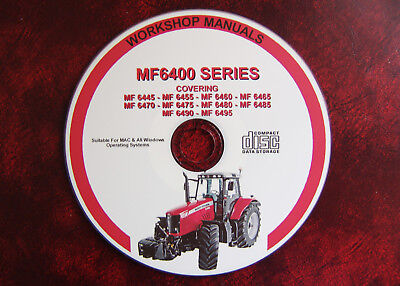 Massey Ferguson 6445 6455 6460 6465 6470 6475 6480 6485 6490 6495 Repair Manual