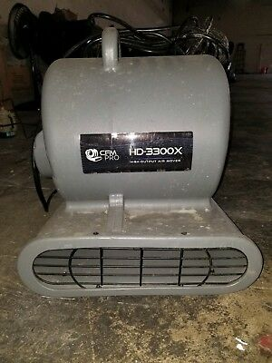CFM Pro Air Mover Carpet Floor Dryer 3 Speed 1/3 HP Blower Fan with 2 GFCI