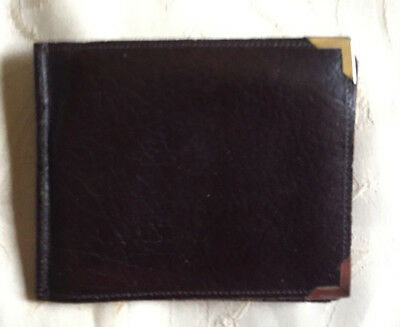 Mens Black True Vintage Real Leather English Wallet
