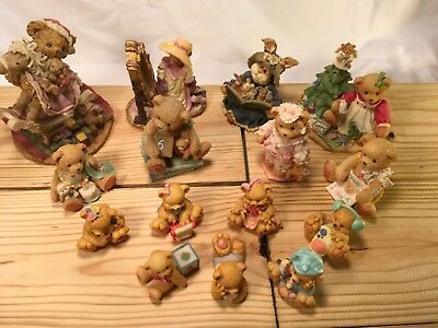Cherished Teddies, Boyd Bears, Hamilton gifts, & more mixed lot 15 piece Vintage