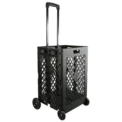 Folding Shopping Tool Carrier Cart Big Size Basket Wheels Laundry Grocery Travel