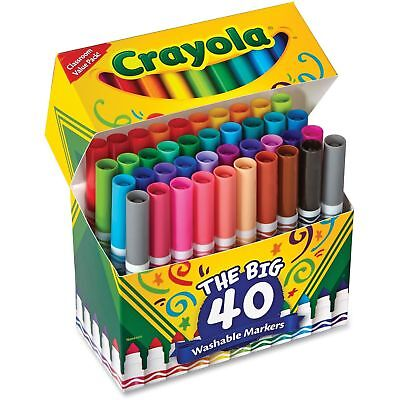Crayola THE BIG 40 -587858 Washable Markers Broad Point Assorted Classic Colors