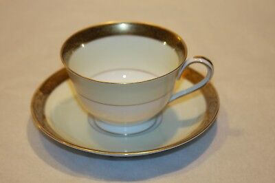 Noritake China Goldkin 4985 Cup And Saucer Sets Ex Cond