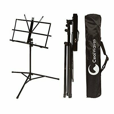 Sheet Music Stand Portable Adjustable Folding Music Holder w/ Carrying Case Bag
