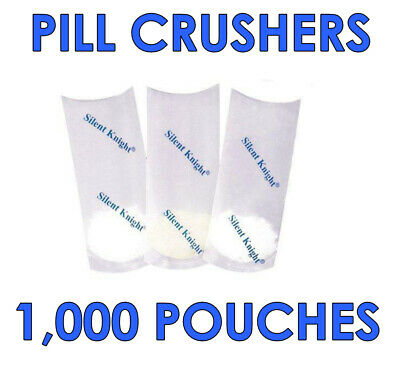 Silent Knight Pill Crusher Pouches (Pack of 1000)