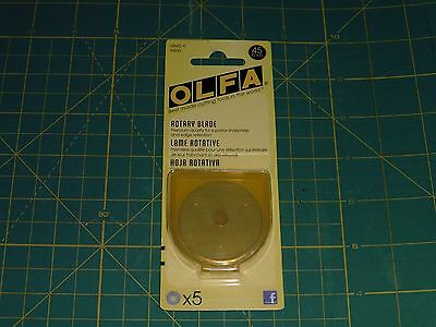 Olfa 45MM Rotary Blades - 5 PACK - RB45-5: 9460 - NEW IN PACK