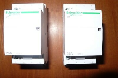 Contacteur Relais 25A 4Pole 4Contact N0 A9C20834 Schneider Electric Merlin Gerin