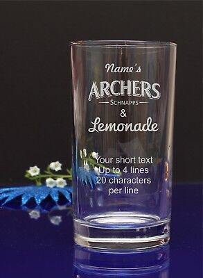 Archers & Lemonade engraved Hi-ball, Mixer glass.Your name.B-day, X-mas gift 285