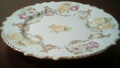 """Small Antique or Vintage German Floral China Decorated 6"""" Plate Made in Germany"""