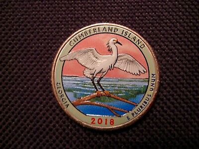 2018 Colorized Cumberland Island National Park Quarter P Mint