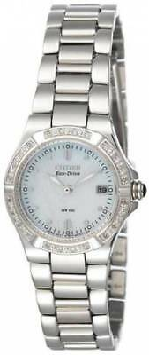 Citizen Eco-Drive Women's EW0894-57D Riva Diamond Accents Stainless Steel Watch