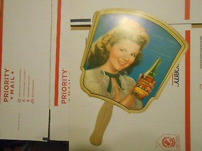 Vintage Shirley Temple Hand Fan Advertising RC Cola