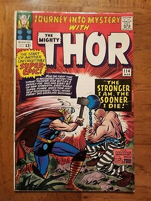 JOURNEY INTO MYSTERY  114  VG+ 4.5 - 1st Absorbing Man!