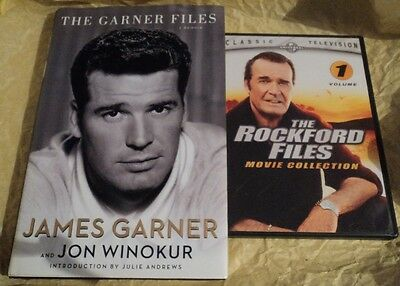 Lot Of 2 Pre-Owned James Garner/rockford Files Autobiography Book & Dvd Movies