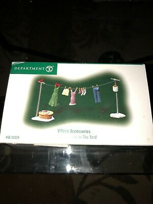 Department 56 Clothes Line In The Yard #56.53329 Brand New