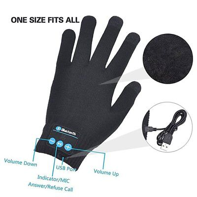 2018 Wireless Bluetooth Glove Wireless Touchscreen Magic Headset Gloves BLACKNT