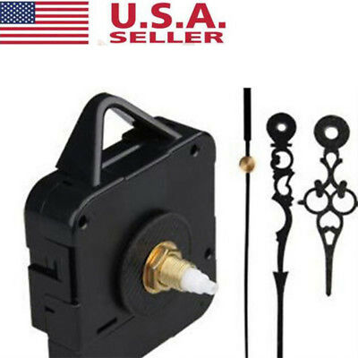 USA Black Clock Quartz Movement Mechanism Hands Diy Kit Repair Wall Part Tool