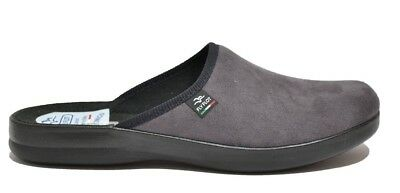 Fly Flot P7502 Wd Charcoal Slippers Man Made In Italy Insole Anatomic