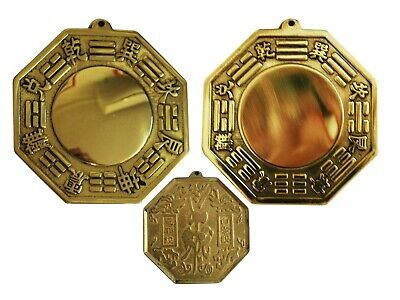 Metal Vintage Bagua Bagwa Convex Concave Good Luck Blessing Home Hang Combo