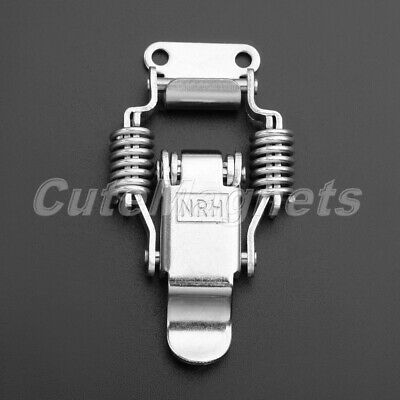 Stainless Steel Cupboard Spring Lock Clasp Clip Cases Hasp Latch Drawer Catch