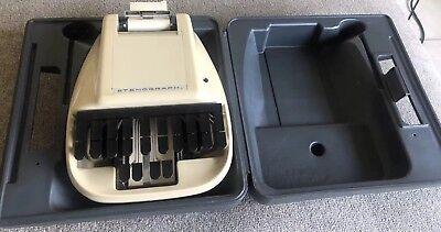 Vintage Stenograph Reporter Model Shorthand Machine W/ Case GREAT WORKING CLEAN