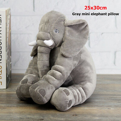 25x30cm Baby Soft Plush Elephant Sleep Pillow Cushion Children Doll Toys Gifts