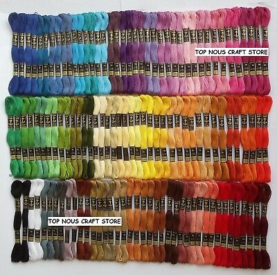 120 Anchor Cross Stitch Embroidery Cotton Thread Floss/ skeins in Solid Colors