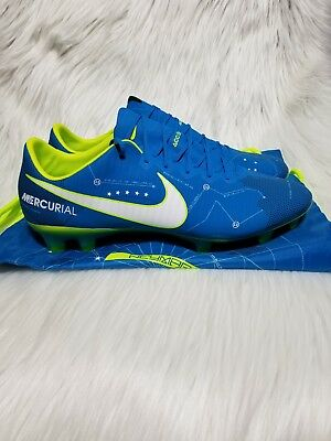 cheap for discount 7a9d2 65375 Nike Mercurial Vapor Neymar XI NJR FG 921547-400 Blue White Mens Cleats Sz  10