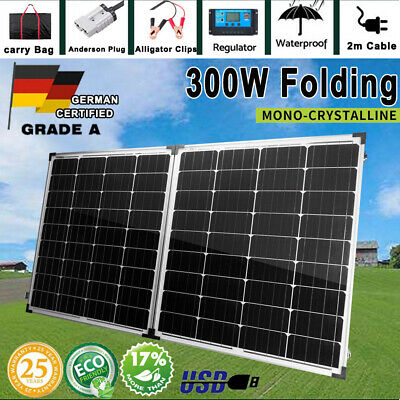 12V 325W Solar Panel Kit Mono Generator Caravan Camping Battery Charging 325watt