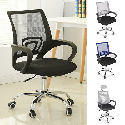 Office Mesh Chair Adjustable Computer 360° Swivel Fabric Ergonomic Lift Chrome