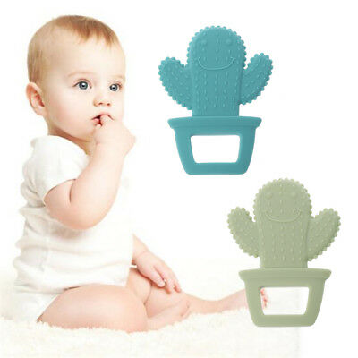 Cactus Baby Teether Pacifier Teething Nursing Silicone BPA Free Necklace Toys