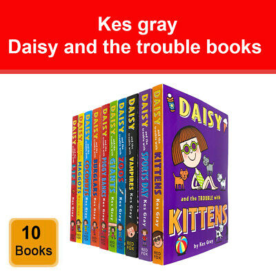 Daisy and the Trouble Collection 10 Books Set by Kes Gray Daisy Fiction NEW Pack