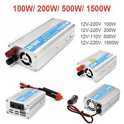 100W-1500W Car Solar Power Inverter DC 12V to AC 220V Charger Converter with USB